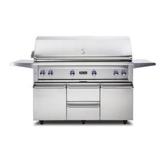"Viking Professional 54"" Natural Gas Freestanding Grill, Stainless Steel"