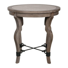 Uttermost - Blanche Travertine Round Accent Table - Side Tables and End Tables