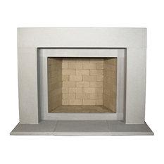Elemental Cast Stone Fireplace Mantel, Pearl
