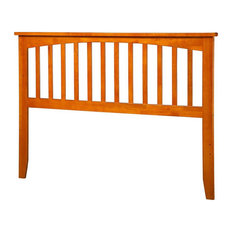 Leo & Lacey Full Spindle Headboard In Caramel Latte