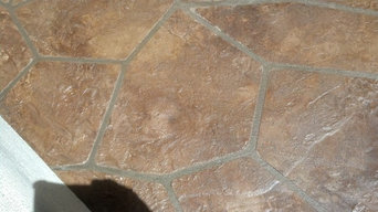 Stamped Stained and Sealed- Faux Flagstone Finished Deck