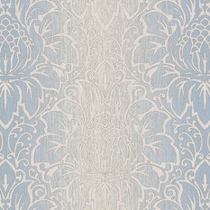 Texture Style 2, Modern Damask Faux Light Blue Wallpaper Sample