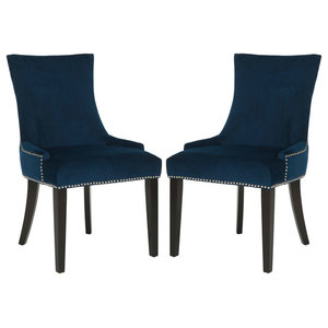 """Lester 19"""" Dining Chairs, Silver Nail Heads, Set of 2"""
