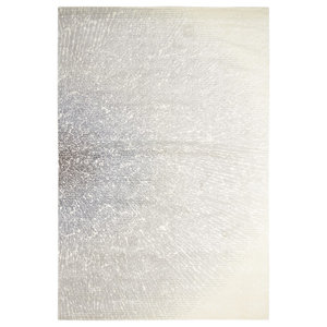 Nourison Twilight Faded Ivory and Grey Rug, 366x457 Cm