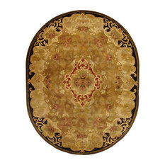 "Safavieh Classic Collection CL234 Rug, Gold/Beige, 7'6""x9'6"" Oval"