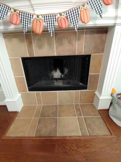 Tile Over Fireplace Surround, Can You Tile Over A Fireplace Surround