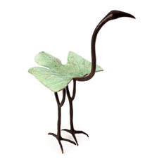 Swahili Green Leaf Ibis Bronze Sculpture