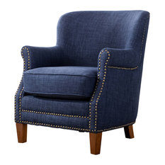 Comfort Pointe   Kelly Fabric Accent Chair, Navy Blue   Armchairs And  Accent Chairs