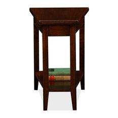 Leick Laurent Solid Wood Wedge Table In Chocolate Cherry