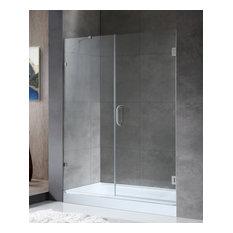 "ANZZI Makata 60""x72"" Frameless Shower Door, Brushed Nickel"