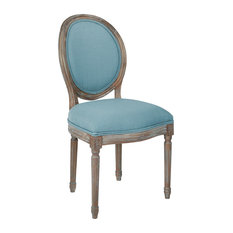 Residence   Brookhaven Oval Back Chair, Ice Blue   Dining Chairs