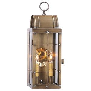 Queen Arch Lantern, Antiqued Solid Brass