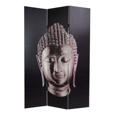 6' Tall Double Sided Buddha Canvas Room Divider