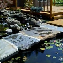 A large estate with many different hardscape ideas and focal points.