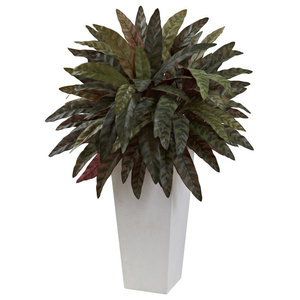 Geo Trough Planter Contemporary Indoor Pots And