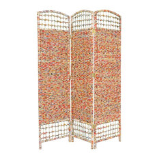 5 1/2' Tall Recycled Magazine Room Divider, 3 Panels