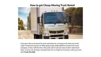 rent truck rental