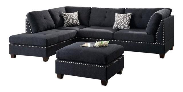 Hillsdale Sectional Sofa Set Black Contemporary Sectional Sofas