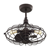 Havana 3-Light Ceiling Fan - Aged Bronze