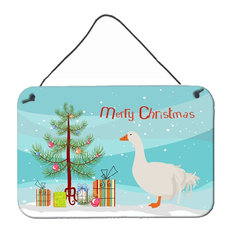 Sebastopol Goose Christmas Wall or Door Hanging Prints BB9269DS812