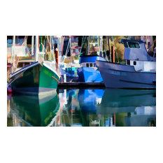 "Newport Fishing Fleet, Art, Canvas Giclee, 36""x24"""
