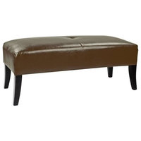 CorLiving Antonio Bench in Brown