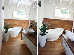 Holz Ist Immer Noch Ein Riesen Thema Auch Bei Unseren Kunden., Egal Ob  Wand, Boden Oder Schrank! Hier Ein Paar Beispiele Von Kunden Bädern: