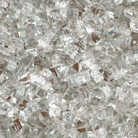 "Duluth Forge 1/4"" Reflective Clear Fire Glass, 10 lb. Bag Fire Pit Glass"