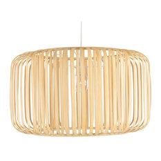 Bamboo Barrel Pendant Lamp, Naural