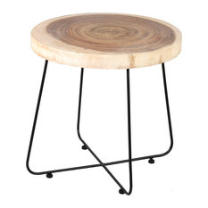 Mollie Wood and Iron Side Table