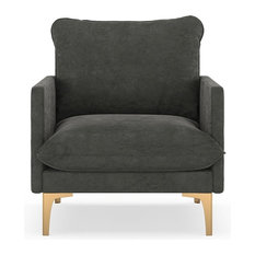 Logan Armchair Micro Suede, Charcoal