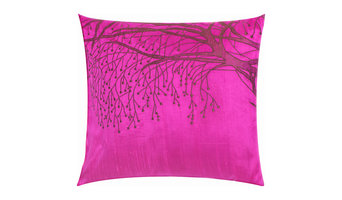 In Bloom Pink Embroidered Pillow Cover