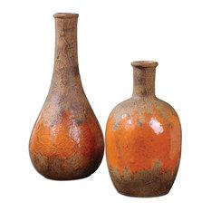 Uttermost Kadam 2-Piece Ceramic Vase Set