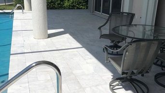 Sky White Marble Outdoor Pool Deck Pavers