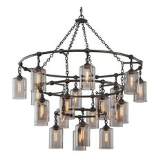Troy Lighting - Troy Gotham 20-Light Pendant, Aged Silver Extra, Large -