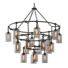 Extra large pendant lights houzz troy lighting troy gotham 20 light pendant aged silver extra large aloadofball Choice Image
