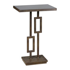 Uttermost Rubati Metal And Glass Accent Table 24344