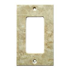 "Light Walnut Travertine Switch Plate Cover Rocker, 2.75""x4.5"""