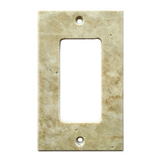 oracle tile and stone light walnut travertine switch plate cover rocker 275x4 - Decorative Light Switch Covers