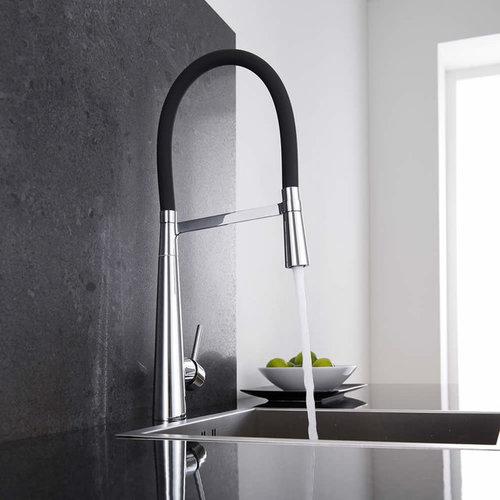 Milano Kitchen Mixer Tap With Flexi Spray   Kitchen Faucets