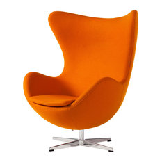 Egg Swivel Chair, Cashmere Orange