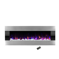 "Electric LED Fireplace, Wall Mounted, Adjustable Heat, 54"" by Northwest"