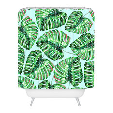 83 Oranges Tropical Greenery Shower Curtain