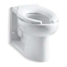 kohler kohler anglesey elongated bowl with rear spud less seat white toilets