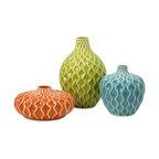 Agatha 3-Piece Ceramic Vase Set