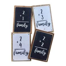 Family Flashcard, Whitewashed, 2+4=Family