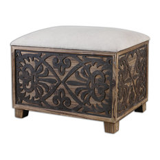 - Abelardo Small Bench by Uttermost - Footstools, Cubes and Ottomans