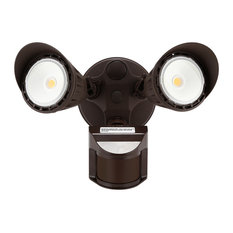 Dual-Head Outdoor Security Light, Motion/Photo Sensor, 5000k Daylight