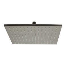 "ALFI 12"" Square Multi Color LED Rain Shower Head, Brushed Nickel"