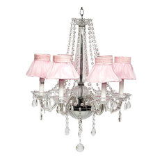 6-Light Middleton Glass Chandelier With Skirt Shades